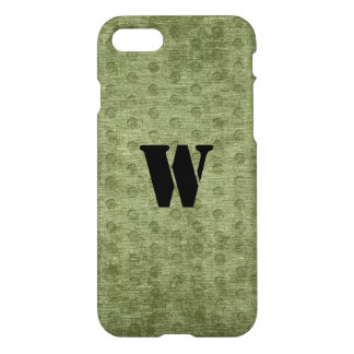 Nubby Army Green Chenille Likeness iPhone 7 Case