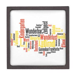 Nube alemana de la palabra - Deutsche Wortwolke Cajas De Joyas De Calidad
