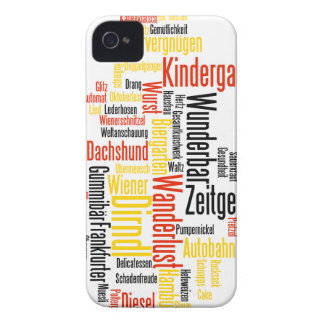 Nube alemana de la palabra - Deutsche Wortwolke iPhone 4 Cobertura