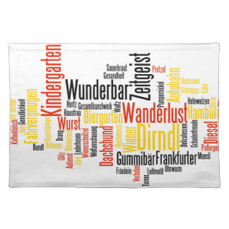 Nube alemana de la palabra - Deutsche Wortwolke Manteles