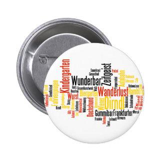 Nube alemana de la palabra - Deutsche Wortwolke Pins