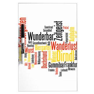 Nube alemana de la palabra - Deutsche Wortwolke Pizarra