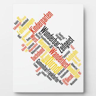 Nube alemana de la palabra - Deutsche Wortwolke Placas