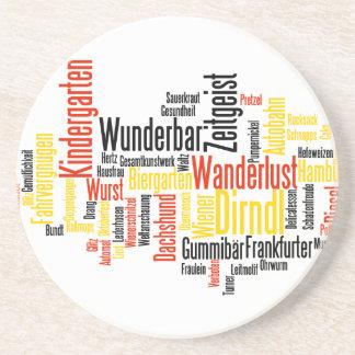 Nube alemana de la palabra - Deutsche Wortwolke Posavasos Personalizados