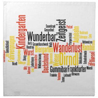 Nube alemana de la palabra - Deutsche Wortwolke Servilletas