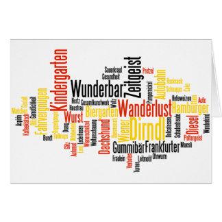 Nube alemana de la palabra - Deutsche Wortwolke Felicitaciones