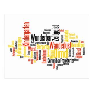 Nube alemana de la palabra - Deutsche Wortwolke Postales