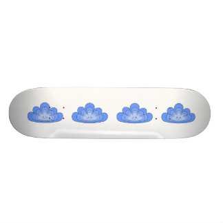 Nube azul con sonrisa en blanco patineta personalizada