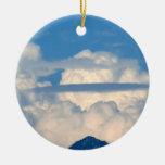 Nube blanca 15 ornamentos de navidad