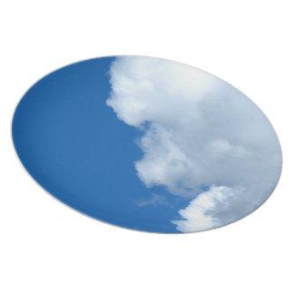 Nube blanca 17 plato de cena