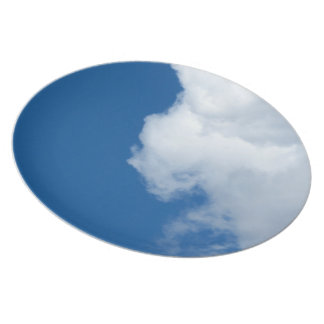 Nube blanca 18 plato de cena