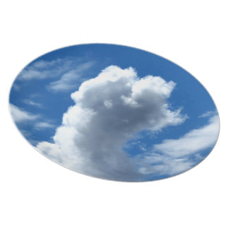 Nube blanca 19 plato de comida