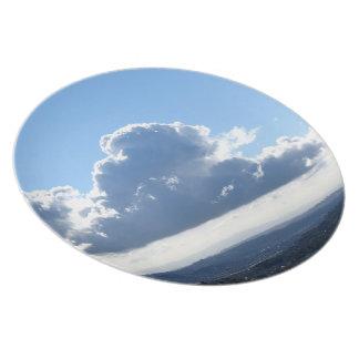 Nube blanca 20 plato de cena