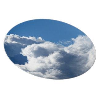 Nube blanca 23 plato para fiesta