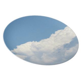 Nube blanca 4 plato de cena