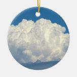 Nube blanca 6 adorno de navidad