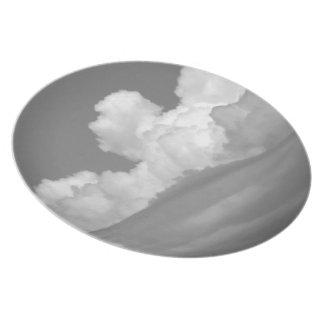 Nube blanco y negro 1 platos de comidas