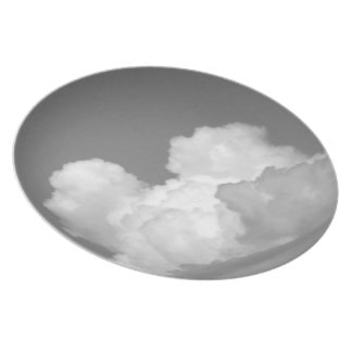 Nube blanco y negro 2 platos de comidas