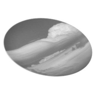 Nube blanco y negro 3 plato