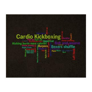 Nube cardiia de la palabra de Kickboxing Impresión En Corcho