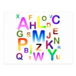 Nube colorida del alfabeto postal