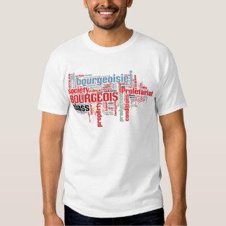 Nube comunista de la palabra del manifiesto camisas