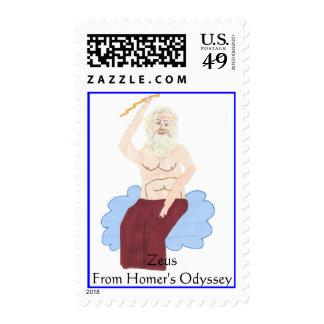 nube con el zeus, la odisea del home run de sello postal