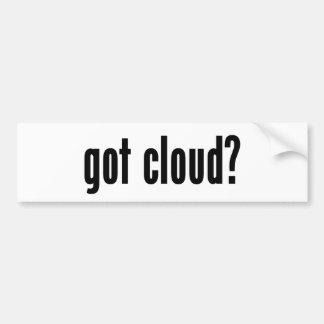 ¿nube conseguida? pegatina para auto