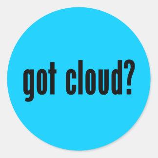 ¿nube conseguida? pegatina redonda