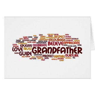 Nube de abuelo de la palabra tarjeta de felicitación