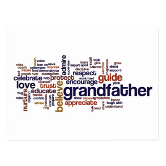 Nube de abuelo de la palabra postal