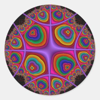 Nube de electrón pegatina redonda