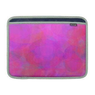 Nube de encargo del rosa del color de fondo funda macbook air