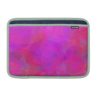 Nube de encargo del rosa del color de fondo fundas macbook air