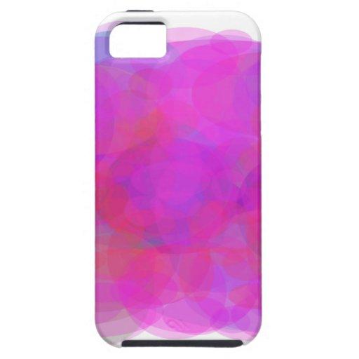 Nube de encargo del rosa del color de fondo funda para iPhone 5 tough