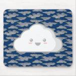 Nube de Kawaii Alfombrilla De Raton
