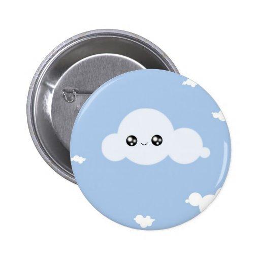 Nube de Kawaii Pin Redondo 5 Cm