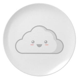 Nube de Kawaii Plato De Comida