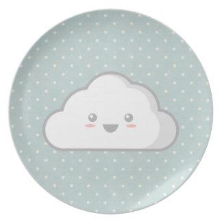 Nube de Kawaii Plato De Cena