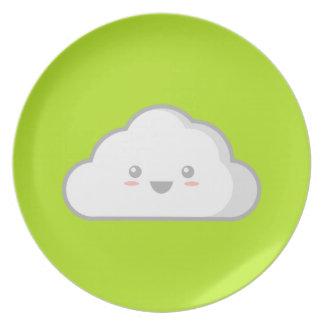 Nube de Kawaii Platos Para Fiestas