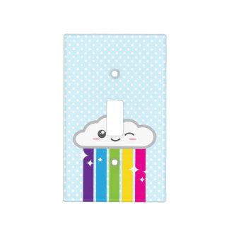 Nube de Kawaii y cubierta de interruptor de la luz Placas Para Interruptor