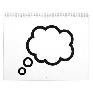 Nube de la burbuja del discurso calendario de pared
