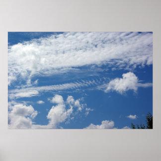 Nube de la espina de pez posters