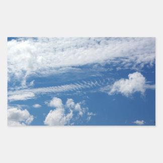 Nube de la espina de pez pegatina rectangular