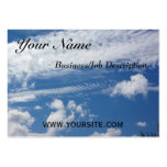 Nube de la espina de pez tarjetas de visita grandes