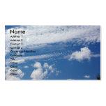Nube de la espina de pez plantilla de tarjeta de visita