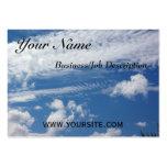 Nube de la espina de pez tarjetas de visita