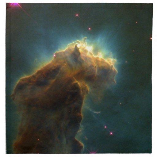 Nube de la explosión de la estrella servilleta imprimida