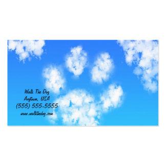 Nube de la impresión de la pata de las tarjetas de plantillas de tarjetas de visita