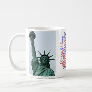Nube de la libertad taza clásica